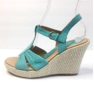 Born Maureen wedge sandal turquoise sz 10